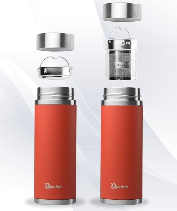 Red Qwetch Insulated Stainless Steel tea mug - 300ml