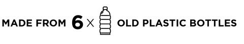6 Old plastic bottles