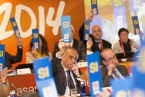 Saez, en las votaciones. Foto FEB.