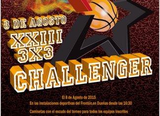 Cartel anunciador del XXIII Challenger 3x3 de Dueñas