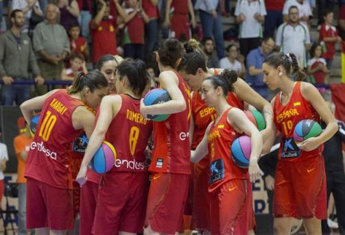 La selección española abre el torneo Ciudad de Palencia ante Canadá. Foto FEB