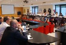 Un momento de la Asamblea de la ACB celebrada esta mañana. Foto ACB Photo