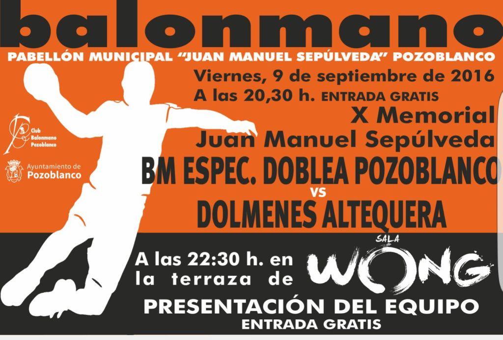 Memorial y Presentacion Balonmano Pozoblanco 2016