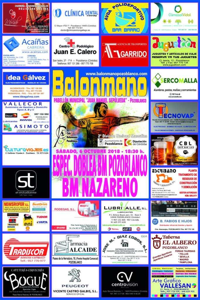 Balonmano Pozoblanco - Balonmano Nazareno - Segunda Nacional balonmano 2018