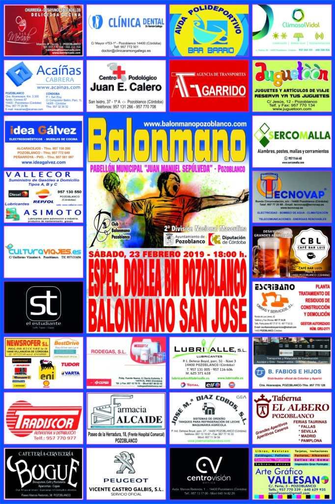 Balonmano Pozoblanco - Balonmano San Jose - 2a Nacional