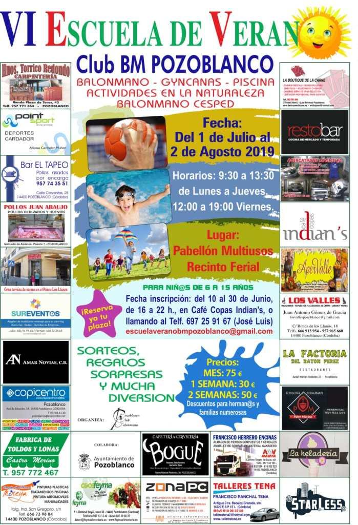 VI Escuela de Verano Club Balonmano Pozoblanco 2019