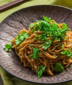 Triple Black Garlic Noodles