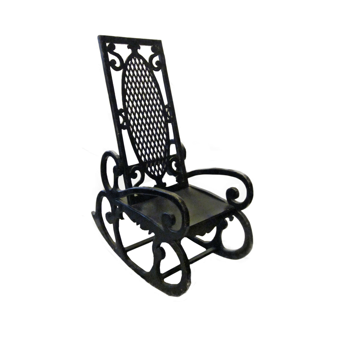 Balsamo Antiques  1920s Oversized Rocking Chair