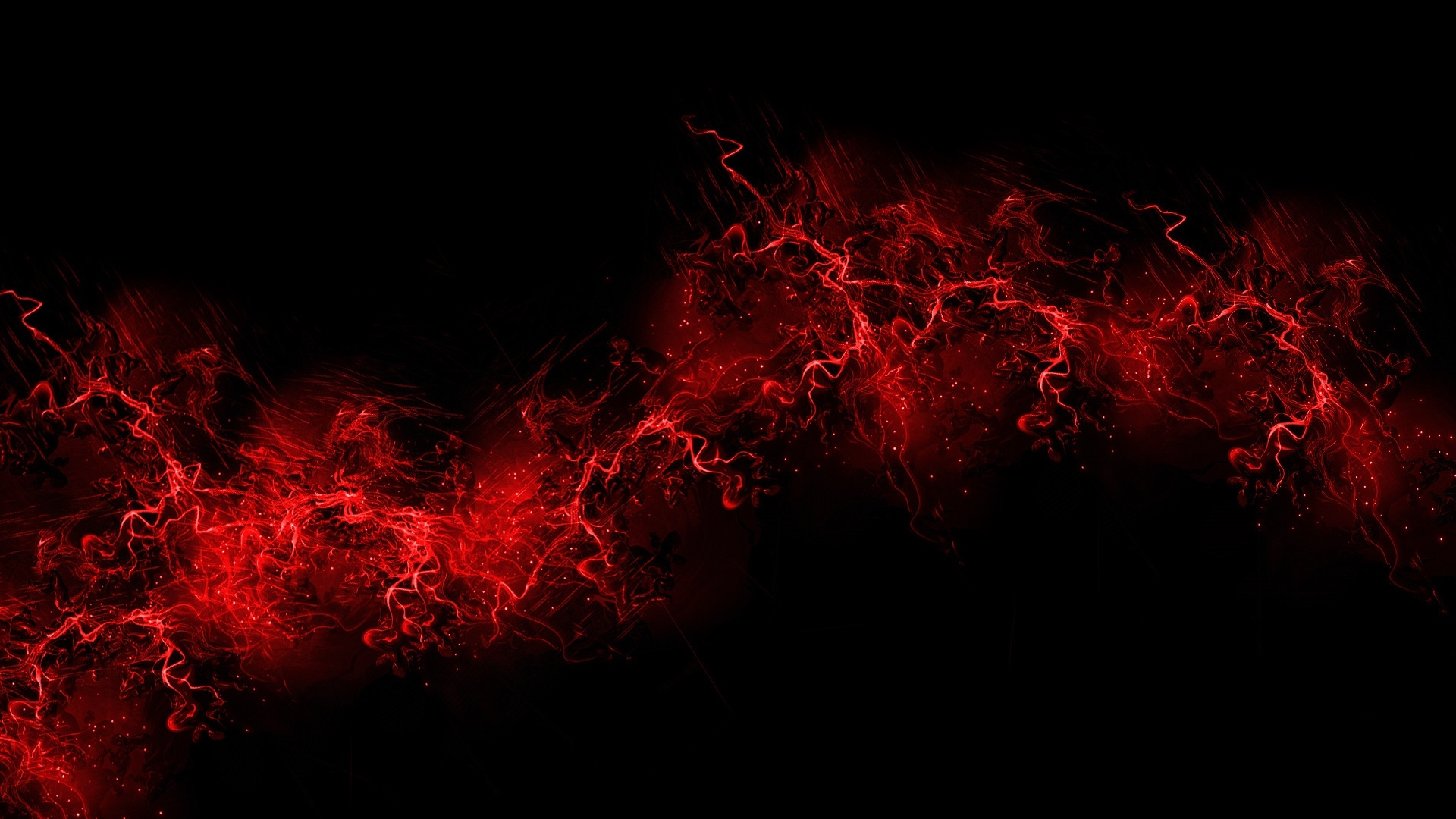 black abstract red effect