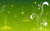 Green Swirl Designs Wallpaper 06522 - Baltana