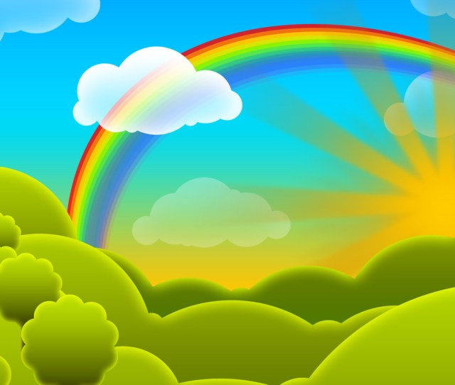 Rainbow Cloud Vector Best Wallpaper