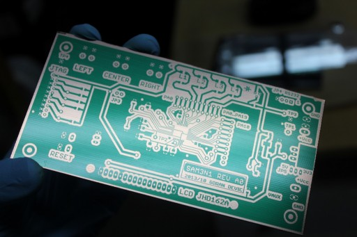PCB after developing and washing
