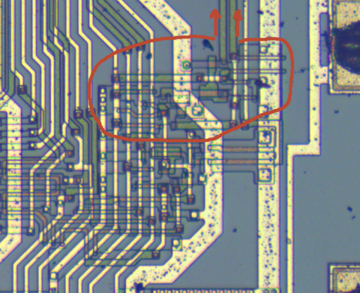 Z80 gate main section - Output