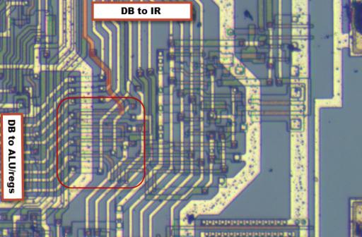 Z80 internal data bus switch SW1