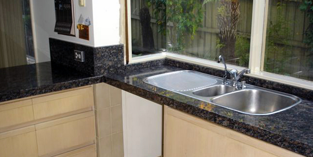 kitchen tops how to build your own cabinets granite top sapphire brown stonemasons melbourne