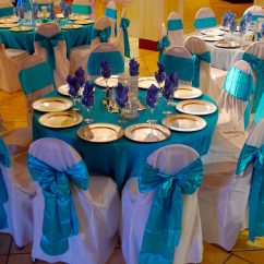 White Chair Sashes For Bar Table Linens – Baltimore's Best Events