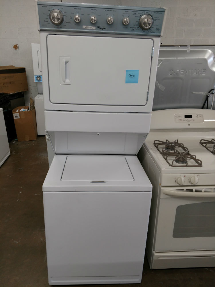 White stackable washer dryer  Baltimore Used Appliances