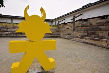 Sculpture at Osaka Castle