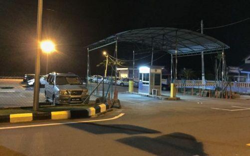 Carpark beside jetty, Mersing, Johor, Malaysia