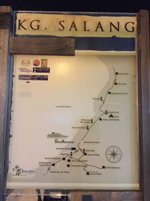 Map of Salang, Tioman
