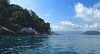 View at one of the open water dive site, Tioman