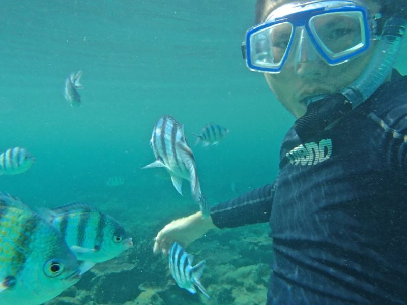 Snorkelling at Salang beach, Tioman