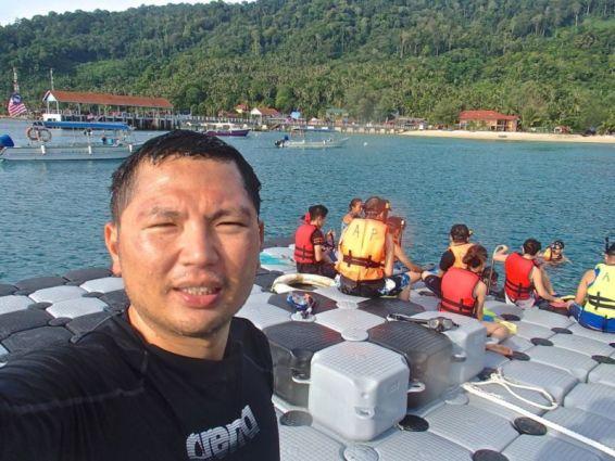 Pontoon off Salang beach, Tioman