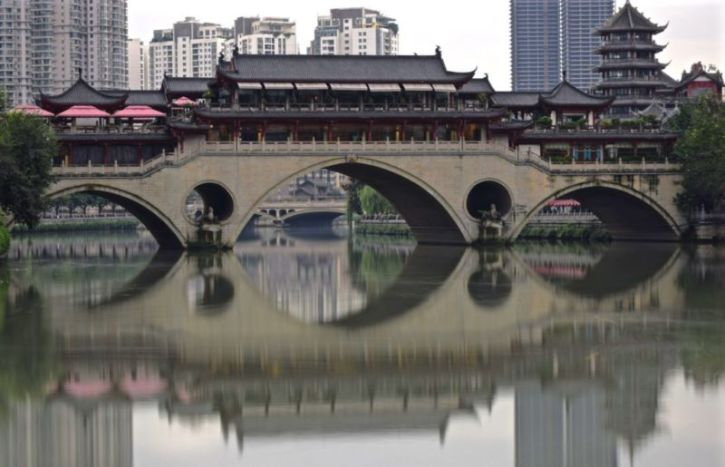 Anshun Bridge, Chengdu, Sichuan, China @2015