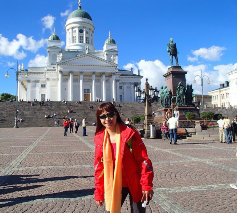 Senate Square with Helsinki Cathedral in background. Helsinki, Finland.