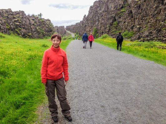 Fault lines at Thingvellir National Park, Iceland