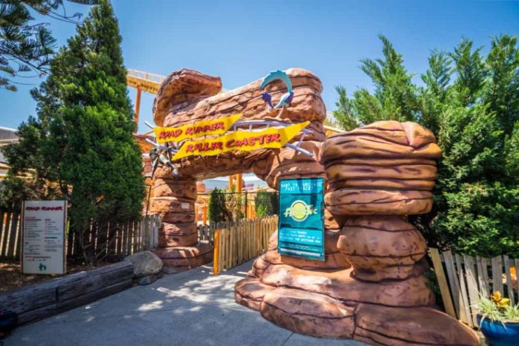 Road Runner Roller Coaster ride suitable for young kids