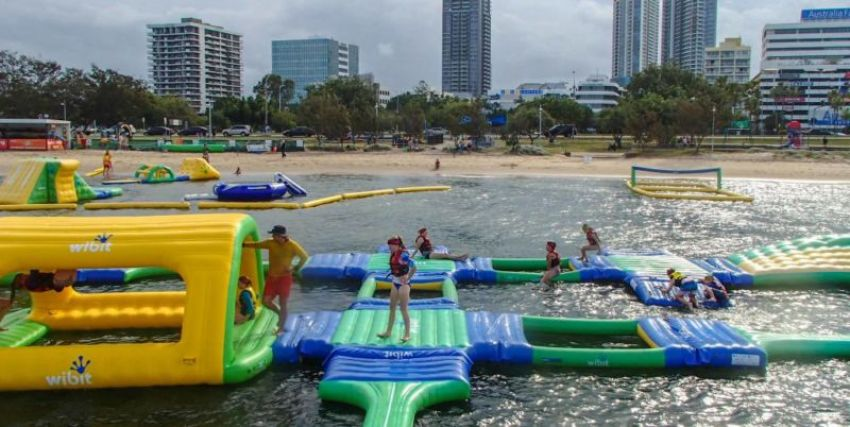 AquaSplash: Large sea-based inflatable playground complete with huge slides, trampolines and obstacle courses, all a short swim off the beach.