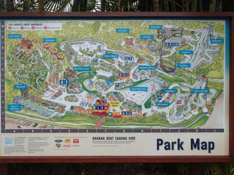 Wet 'n' Wild: Park Map