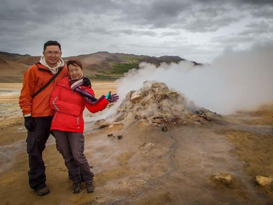 Steaming fumarole at Hverarondor Hverir