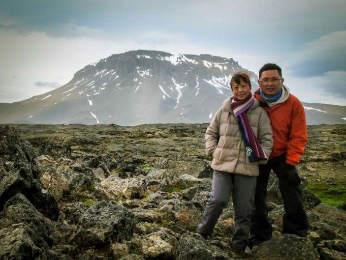 Mt Herðubreið as viewed from Herðubreiðarlindir. Herðubreið is a steep-sided and flat-topped volcano. En-route to Askja (via F88)