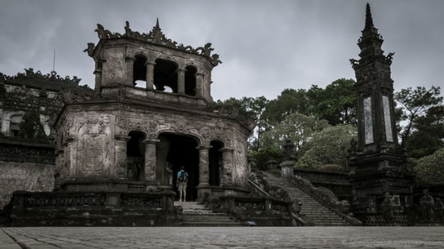 Khai Dinh's Tomb. Khai Dinh (1885-1925) was the 12th emperor of the Nguyễn Dynasty. (Hue, Central Vietnam)