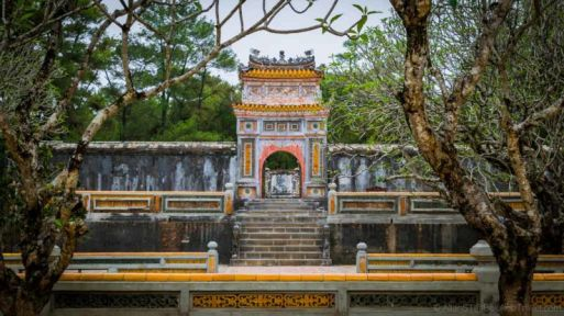 Tu Duc Tomb (Hue, Central Vietnam). Oddly, despite its magnificence and scale, Tu Duc was eventually buried in a different and secret location in Hue, probably to deter grave robbers.
