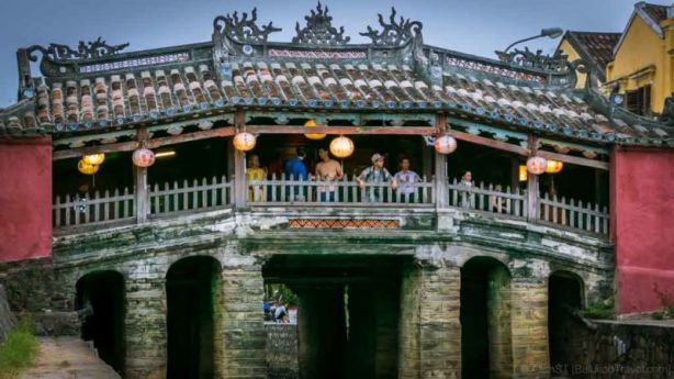 Japanese Covered Bridge, one of the main highlights of Hoi An Ancient Town. (Da Nang, Vietnam)