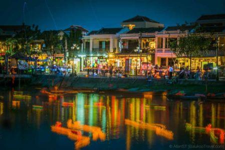 Floating lanterns. Hoi An Ancient Town. (Da Nang, Vietnam)