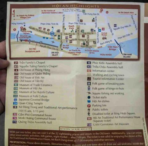 Hoi An Tourist Map (Da Nang, Vietnam)