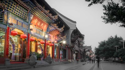 One of the numerous retail outlets along QinTai Road (Chengdu, China)