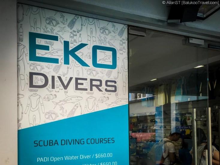 Eko Divers office (York Hill, Singapore)