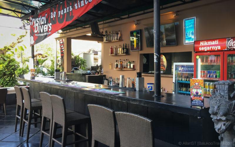 In-house bar at Crystal Divers (Bali)