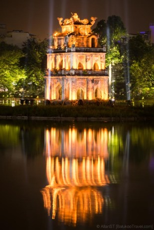 The Turtle Tower, Hoàn Kiếm Lake (Hanoi, Vietnam)