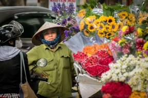 Flower vendor. Hanoi Old Quarter (Vietnam)