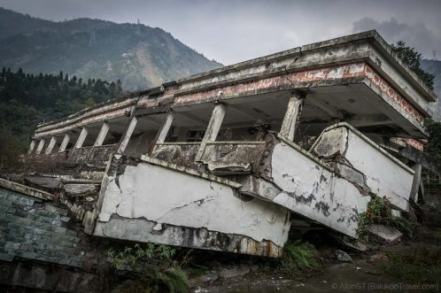 Earthquake Relics Site of Xuankou Middle School (映秀镇漩口中学遗址) (Sichuan, China)