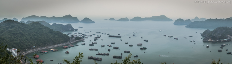 Views of Lan Ha Bay from Cannon Fort (Cat Ba Island, Vietnam)