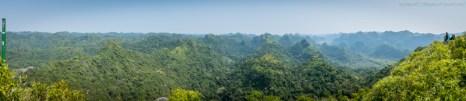 Panoramic View from Ngu Lam Peak , Cat Ba Island National Park (Vietnam)