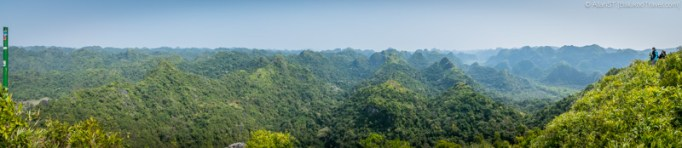 Panoramic View from Ngu Lam Peak , Cat Ba Island National Park (Vietnam)