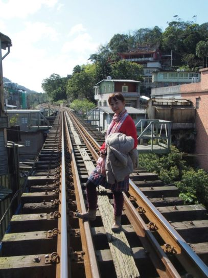 Previous railway track at Pingxi Station, Pingxi Line (Taiwan) @2014